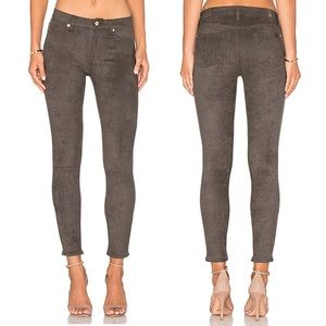 7 FOR ALL MANKIND Olive Knee Seam Skinny Pant